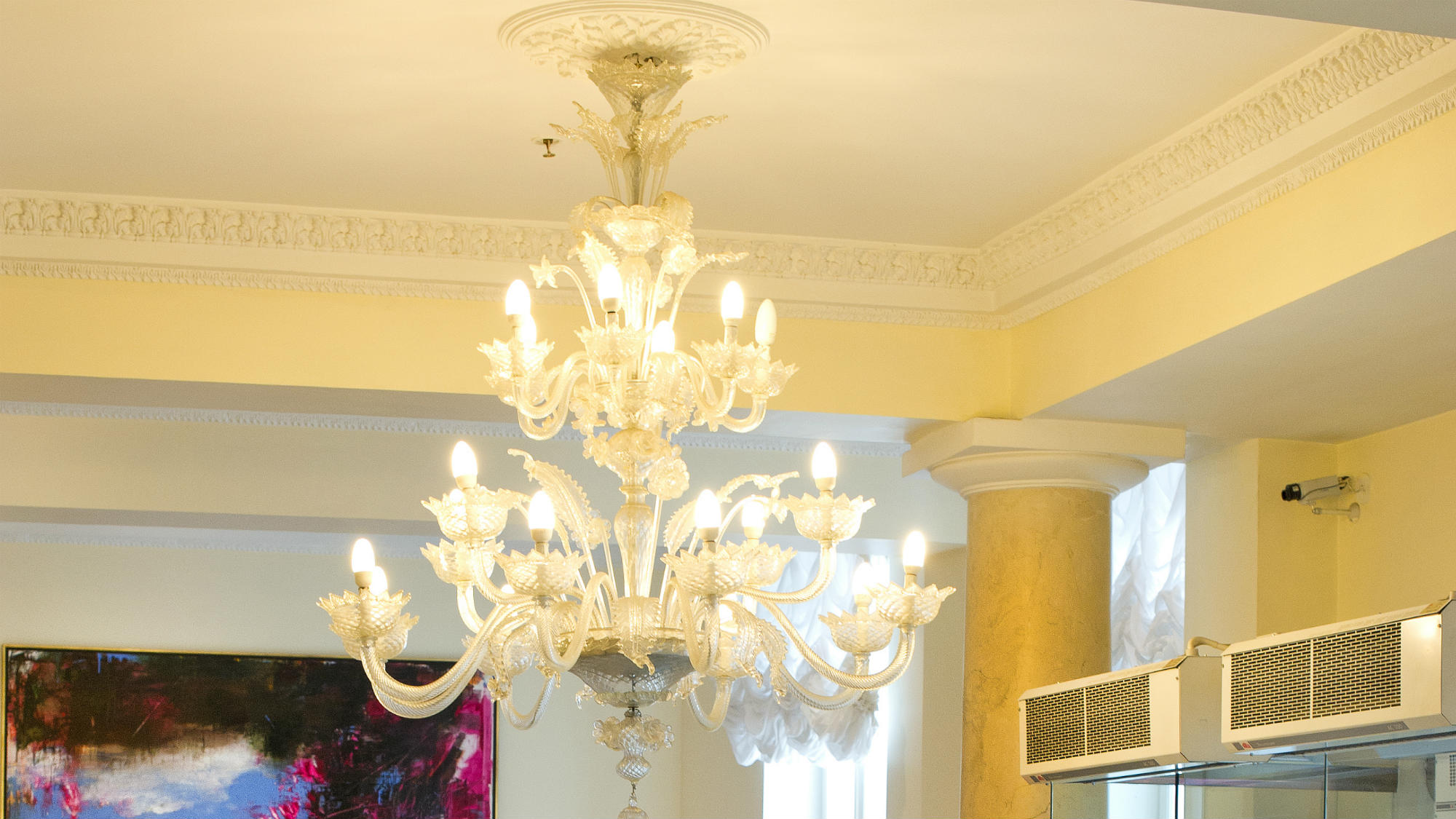 Chandelier at the foyer