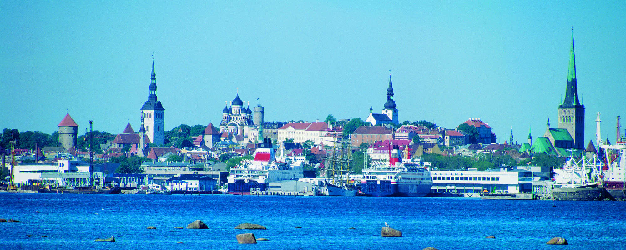 View to the Tallinn Old town from the sea. Picture by Toomas Volmer