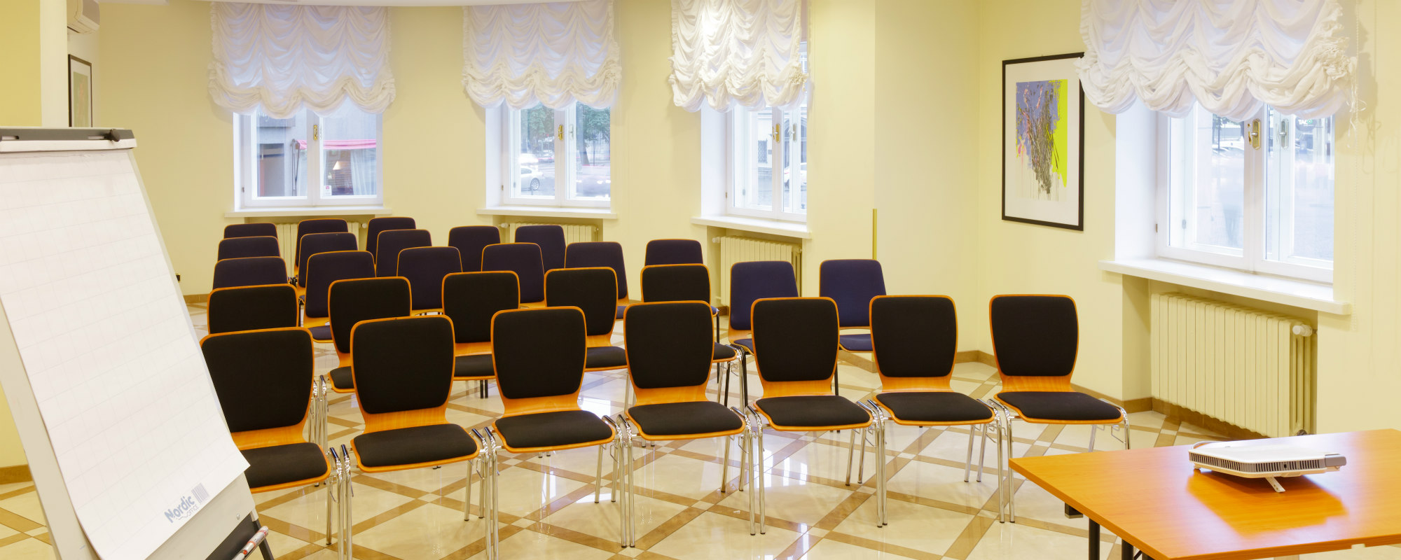 Meeting room at the charming My City Hotel Tallinn. Theatre type