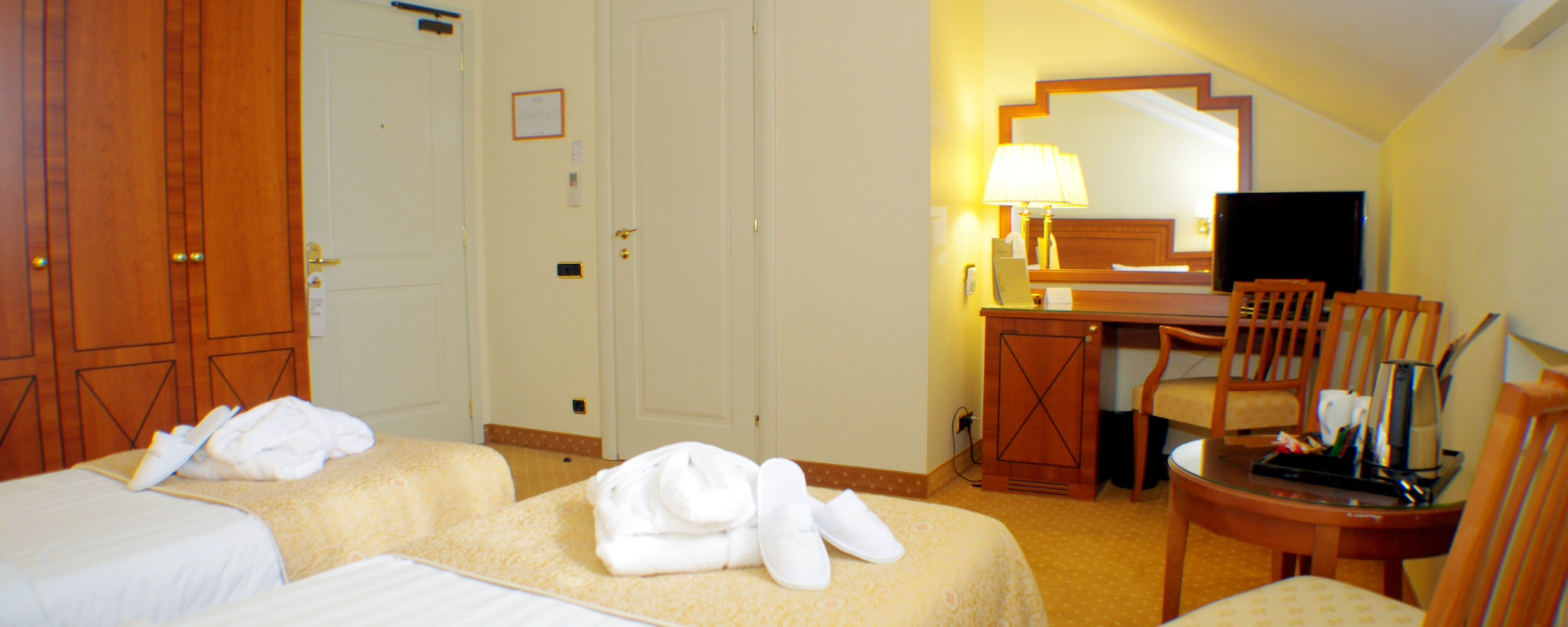 Superior twin room at the 5th floor of the hotel